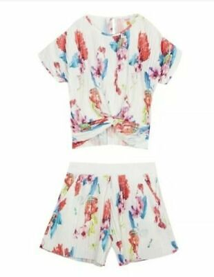 Bnwt Ted Baker plisse Girls Top and Shorts Set Ladies Age 13