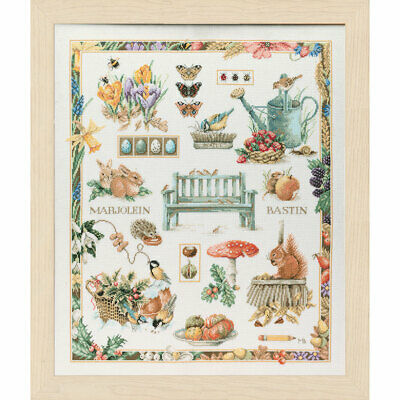 Four Seasons Sampler Cross Stitch Digital Chart