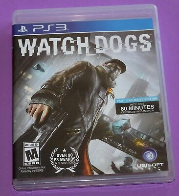 Watch Dogs (Sony PlayStation 3, 2014) Complete CIB PS3