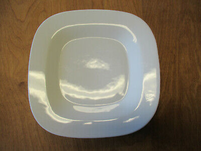 """Food Network MARSHMALLOW WHITE SQUARE Dinner Plate 10 7/8""""    8 available"""