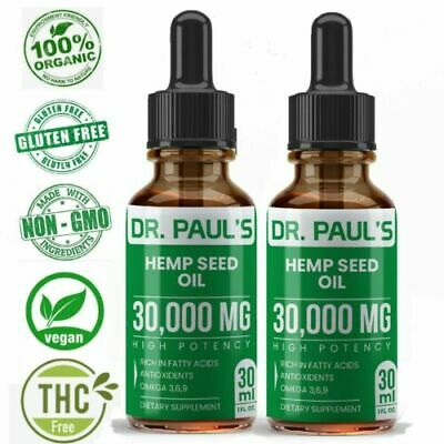 Hemp Oil Extract For Pain Relief, Stress , Anxiety, Sleep - 30,000 mg 2 PACK