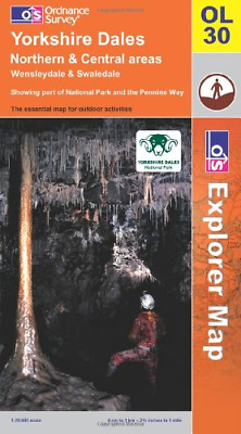 Explorer Map OL30 Yorkshire Dales: Northern and Central Areas Wensleydale & Swal