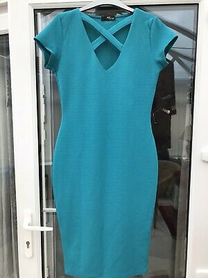 2179-00 LACOSTE NWD WOMENS BLUISH BUTTON DOWN BACK CLOSURE DRESS SIZE 38 US 6