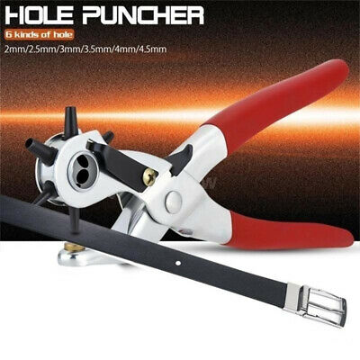 Puncher Leather Belt Tool Leather Punch Plier Round Hole Revolving Perforator