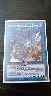 Yugioh Chaos Impact Unchained Soul of Rage Secret Rare 1st Edition, NM/M