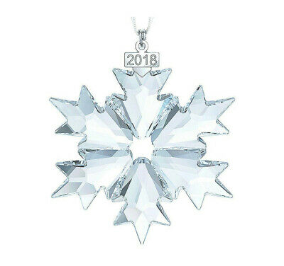 Crystal 2018 ANNUAL EDITION LARGE CHRISTMAS ORNAMENT 5427990 Snowflake Ornament
