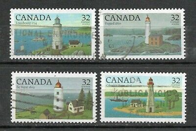 Canada Stamps #1032T-1035T Set Of 4 (Used) From 1984  No Tag Error
