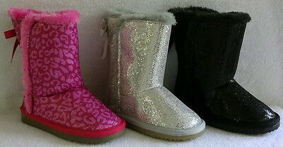 "NEW ZODIAC Toddler Girls ""Lil Charlie Glitter Boots 7 8 (MSRP$49.99) NEW"