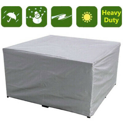 7Size LARGE Waterproof Furniture Cover Table Chair Garden Patio Cube Set Outdoor