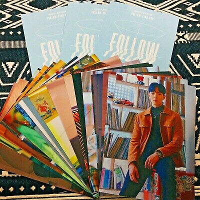 MONSTA X Member Set Follow Find You Album Large Photocard Kihno Ver Official New