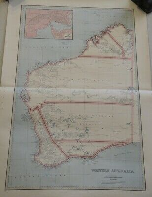 Map Of Western Australia  1888 The Picturesque Atlas Publishing Company