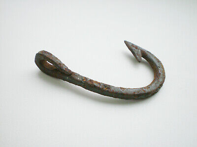 Ancient Rare Authentic Viking Iron Fishing Hook  9 - 10 century AD