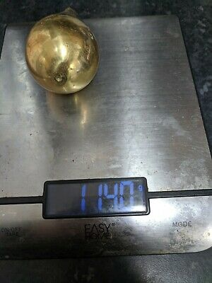 Vintage Solid Brass Dutch Zansee Pear Shape Clock Weight, 1.26 Kilos