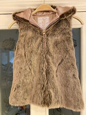 Girls Clothes Age 7-8 Years Tu Sainsburys Faux Fur Gillet Waistcoat (792)
