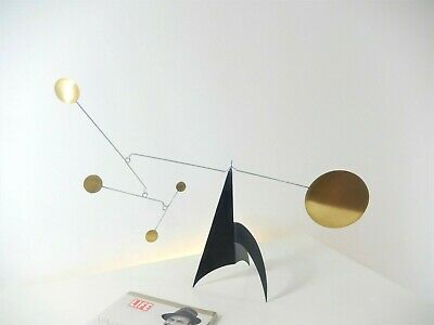 Stabile en laiton Mobile aus messing   Brass tabletop stabile and hanging mobile