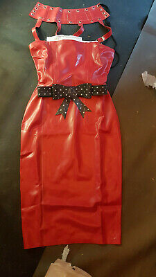 latex Kleid dress print pin up NP330€ Latex Westward bound new 36/38 one off new