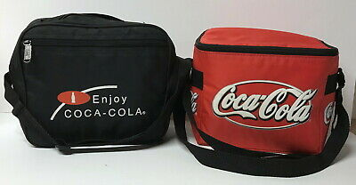 Coca Cola Lunch Bags Zippered Insulated ~ Lot Of 2