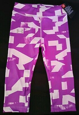 Under Armour Purple Ace Youth Size 5 Girls Ankle Crop Pants Brand New With Tags!