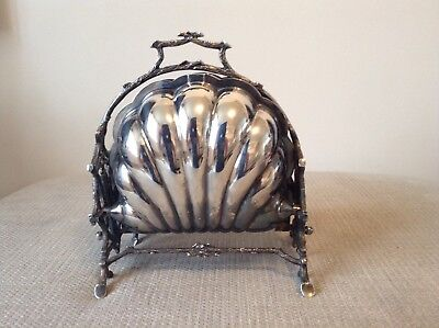 Antique Victorian Sheffield Silver Plated Folding Biscuit Box Downton Abbey