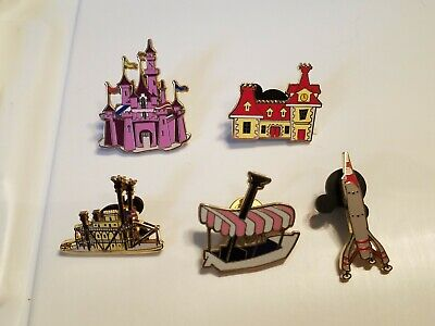 Disney Gift With Purchase Original Lands GWP Pin Set