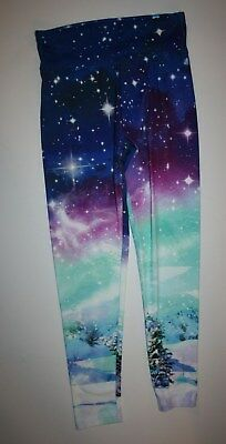 New Justice Leggings Girls 16 Plus yr Winter Tree Snow Star  Stretch Soft Pants