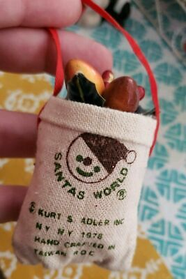 "3.5"" Potato Sack Kurt S. Adler Christmas Holiday Ornament Santas World 1978"