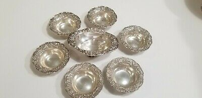 S. Kirk & Son Sterling Silver 7 Piece Repousse Dishes