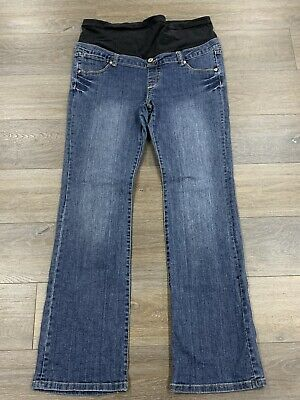 Ladies size 14 Dark Blue JEANSWEST Maternity Denim Bootcut Jeans  - *Great Con*