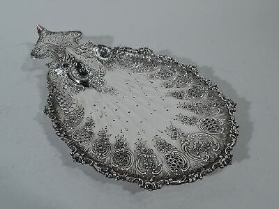 Tiffany Plate - 11145 - Antique Cake Petit Four Tray  American Sterling Silver