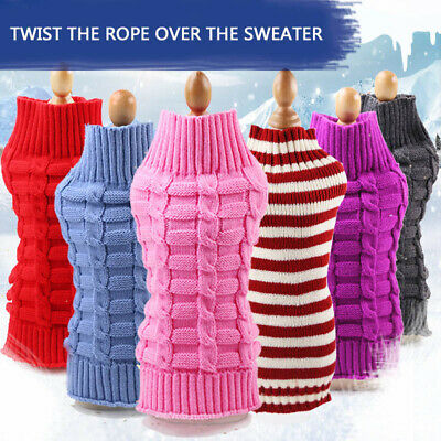 Pet Dog Cute Sweater Clothes Winter Warm Coat Puppy Cat Knitwear Knitted Supply