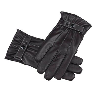 Mens Winter Warm Gloves Leather Winter Outdoor Driving Warm Gloves Cashmere