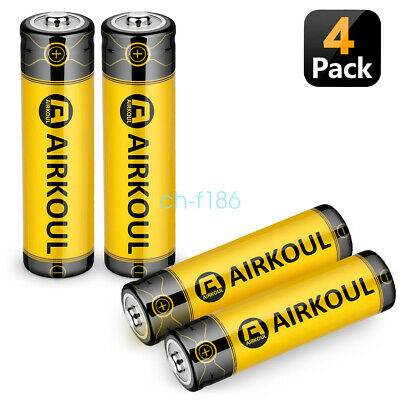 4 X 3.7V 18650 6800mAh Li-ion Rechargeable Battery For Flashlight Torch LED BRC
