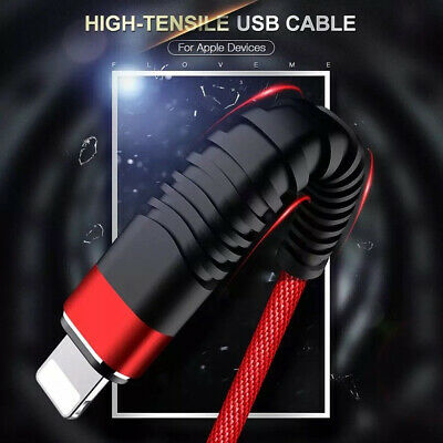 Genuine Braided Lightning Data Cable Charger for iPhone XRS 6 6s 5 5S 7 8 Plus