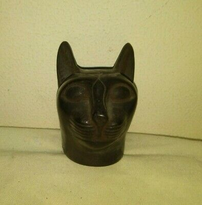 Rare Ancient Egyptian Antique Bastet Amulet Cat 1456-1245 Bc