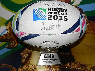 South Africa v Wales Rugby World Cup 2015 Quarter Final Match Used Ball