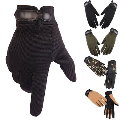 Mens Full Finger Gym Gloves Weight Lifting Training BodyBuilding Cycling Fitness