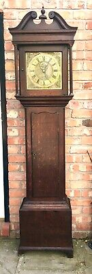 Antique Oak Longcase Grandfather Clock 30 Hour BISHOPP MAIDSTONE