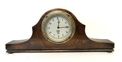 Vintage SMITHS MA LONDON 8 Day Car Clock in Oak Case Working Order P-98.334