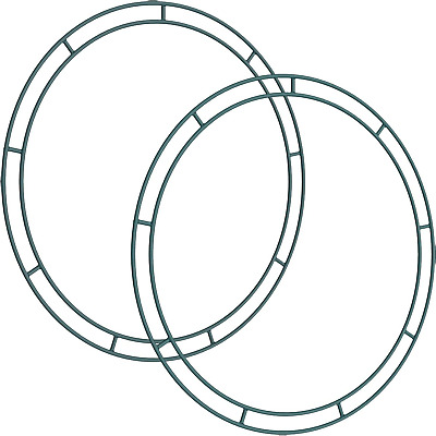 Sumind Flat Wire Rings Wire Wreath Frame Wire Wreath Making Rings for New Year
