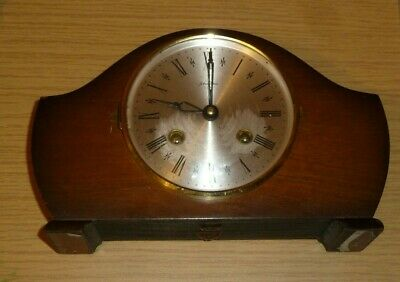 Bentima Ting-Tang mantel clock for spares - escapement damaged