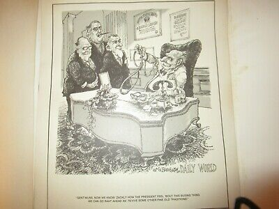 SoulShots Folio 1972 Political Cartoon Ollie Harrington Richard Nixon Vietnam #2