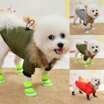 Dog Hoodie Warm Winter Coat Sweater Clothes Pet Puppy Cat Jacket Costume Jumper