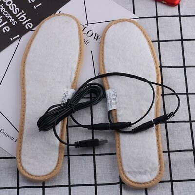 Electric USB Plug Heated Shoes Insoles Plush Film Heater Warm Socks Foot Pad