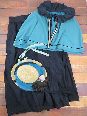Victorian 3 Piece Costume - Theatrical - Christmas Markets - UK 12/14