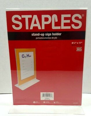 "Acrylic Sign Holder 8.5 x 11"" Vertical Stand-up Double Sided NEW BSBox"