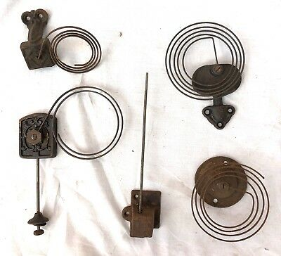 5 Vintage / Antique Bracket Mantel Wall Clock Gongs & Stands Rods & Stand H03