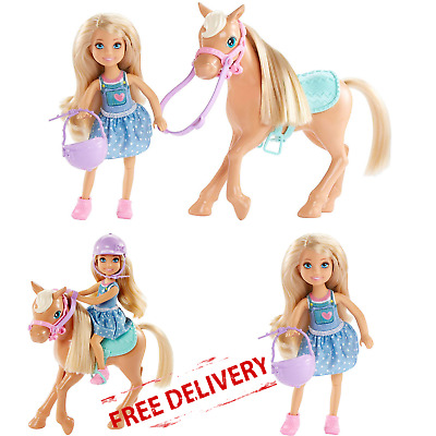 Barbie Doll Horse Kids Toy Collectible Playset Girls Holiday Gift Club Chelsea