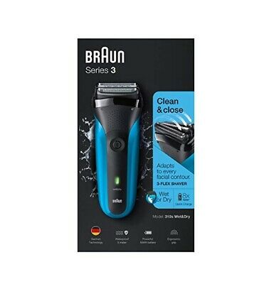 Braun Series 3 310s Electric Razor Rechargeable Cordless Electric Wet & Dry Foil