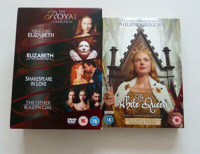THE ROYAL COLLECTION + THE WHITE QUEEN - 2 x 4 DVD COLLECTIONS