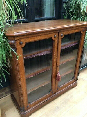 Victorian Oak bookcase with three adjustable shelves